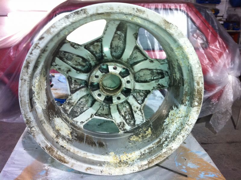 Alloy wheel repair picture before